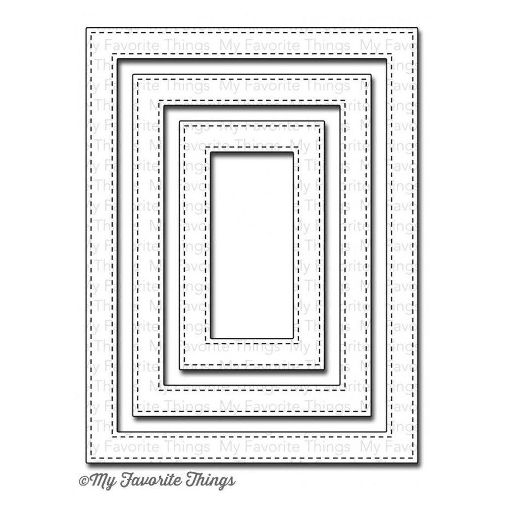 MFT - Stitched Rectangle Frames Dies