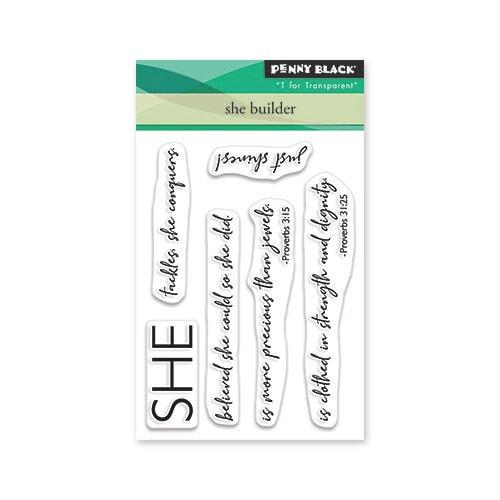 Penny Black - She Builder Stamp Set