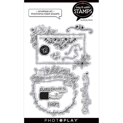 Photo Play - Envelope Art Stamp Set