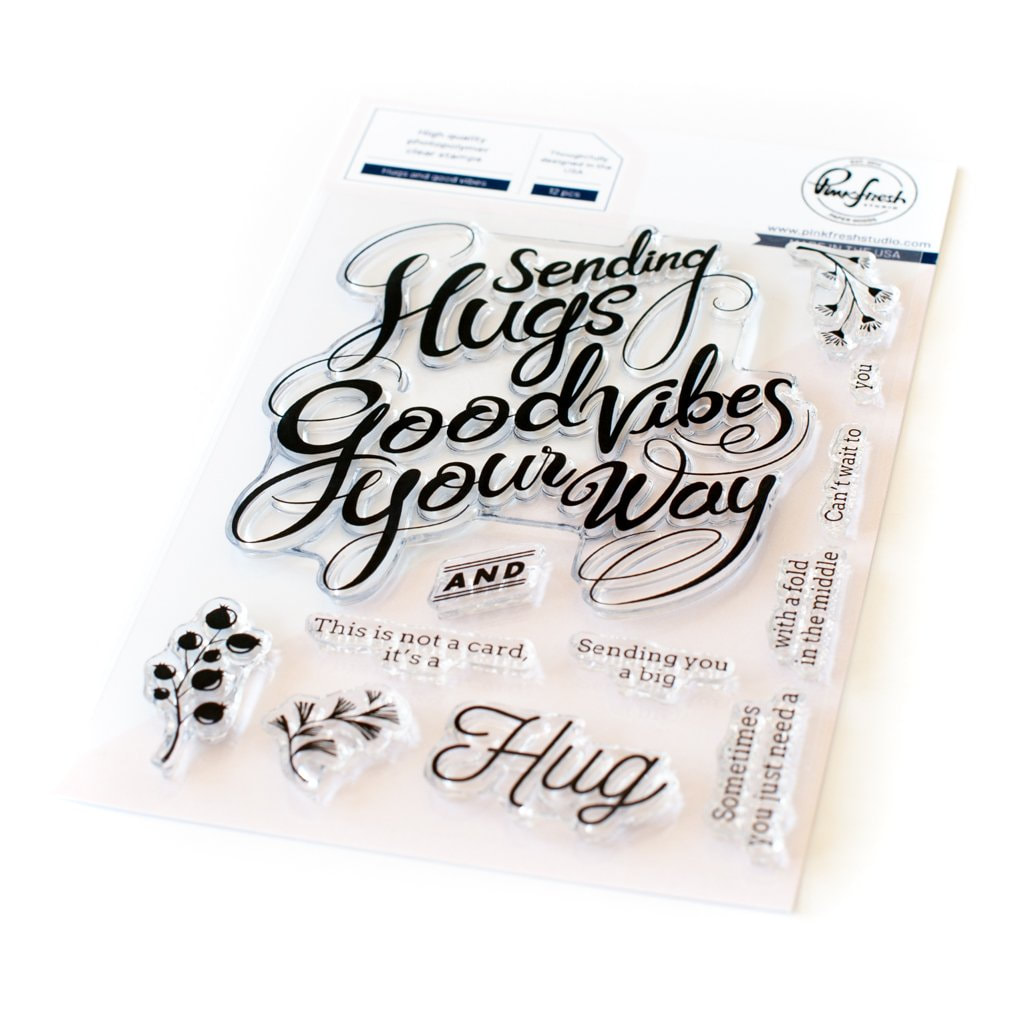 PinkFresh Studio - Hugs & Good Vibes Stamp Set