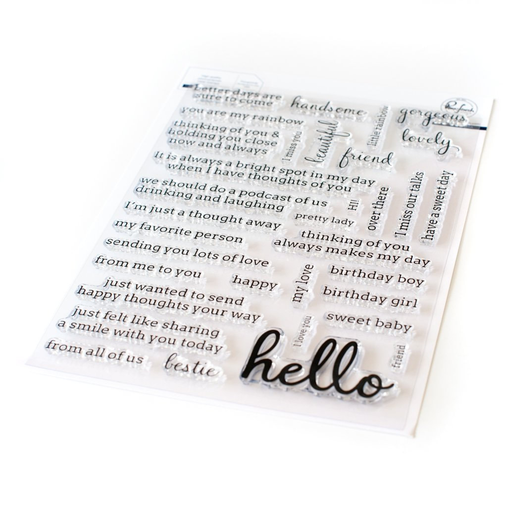 Pinkfresh Studio - Simply Sentiments: Hello Stamp Set