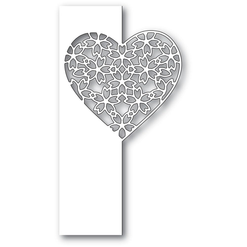 Poppy Stamps - Floral Lace Heart Die