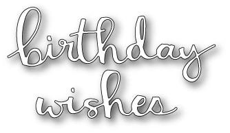 Poppy Stamps - Hip Birthday Wishes Die