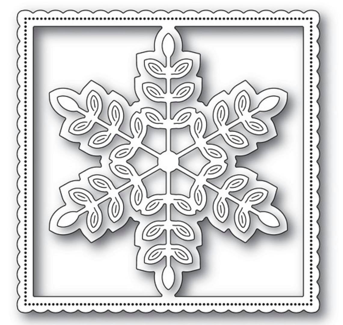 Poppy Stamps - Leafy Snowflake Frame Die