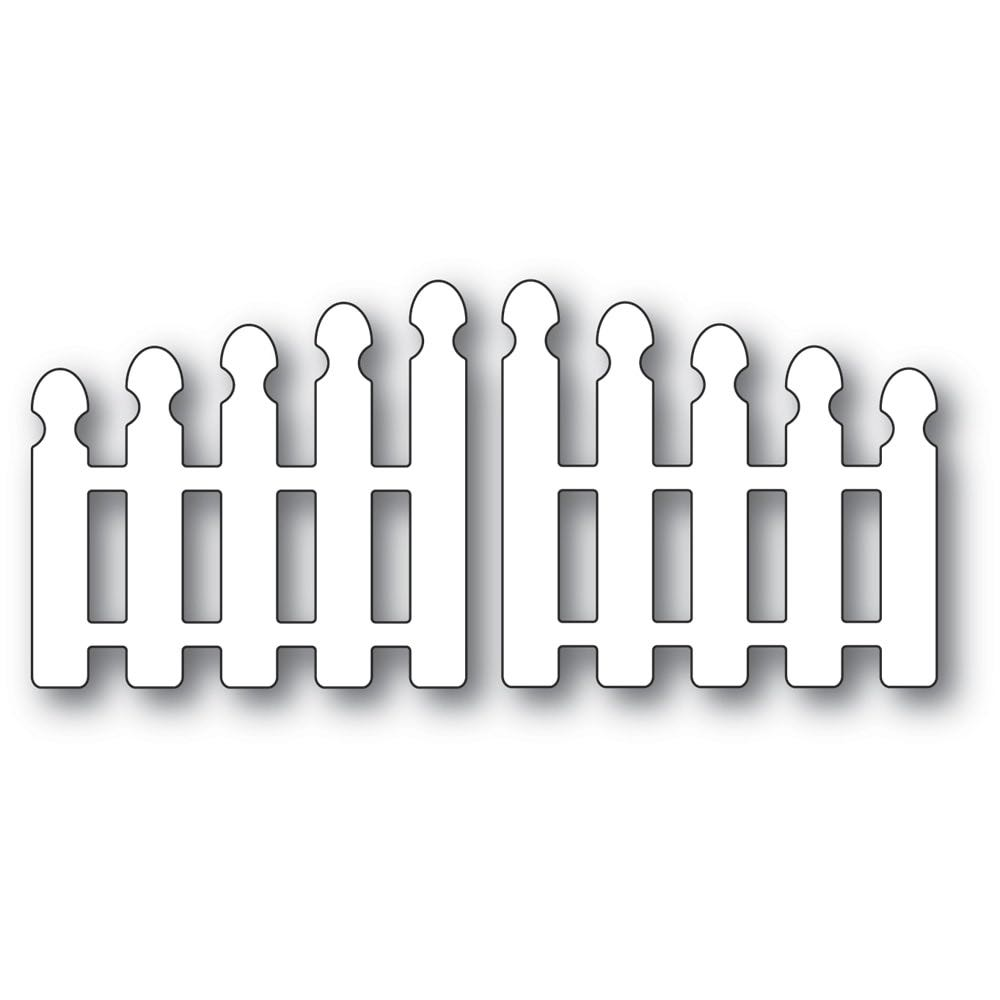Poppy Stamps - Pointy Picket Double Gate Die