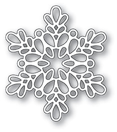 Poppy Stamps - Seed Snowflake Outline Die
