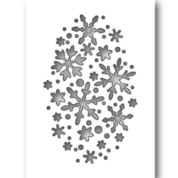 Poppy Stamps - Snowflake Oval Collage Die