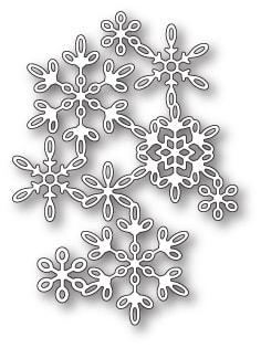 Poppy Stamps - Snowflake Screen Die