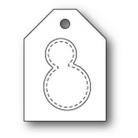 Poppy Stamps - Snowman Taglet Die