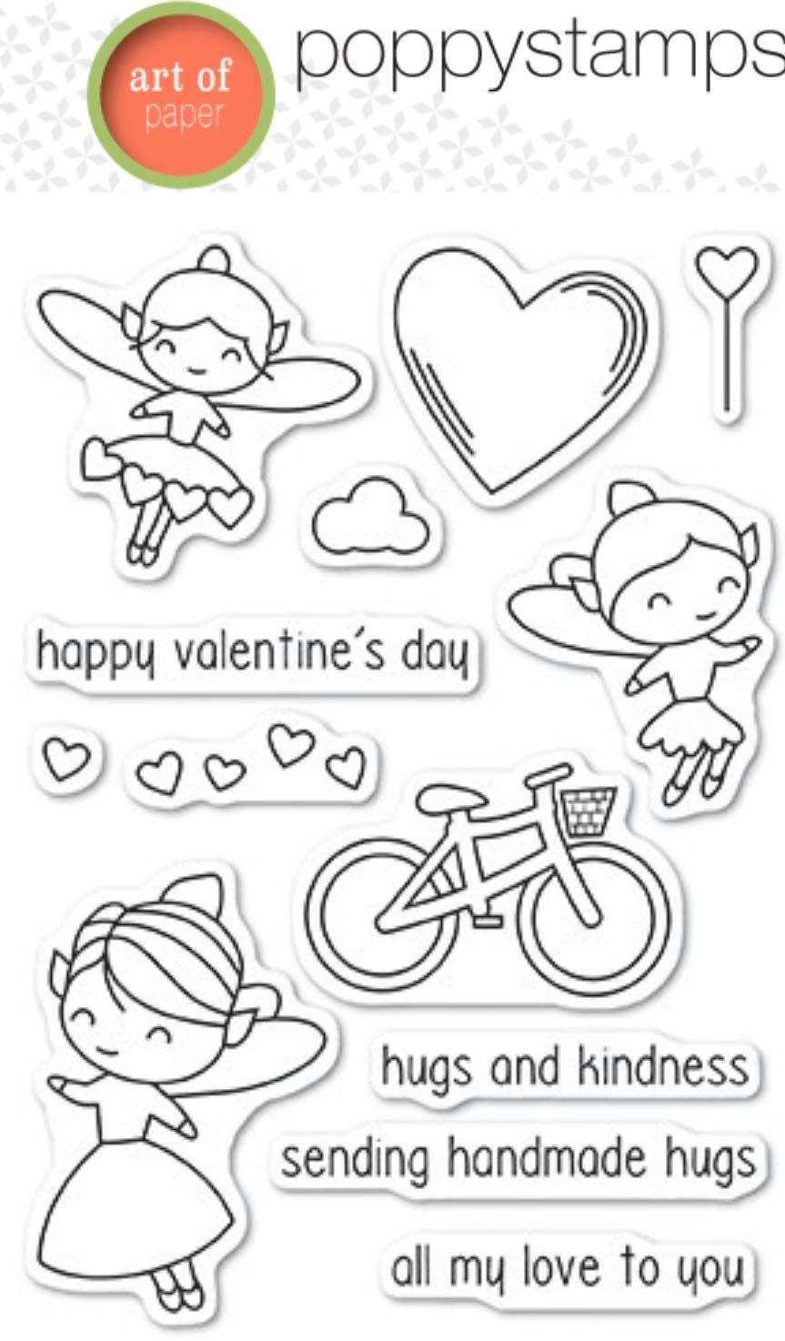 Poppy Stamps - Valentine Fairies Stamp Set