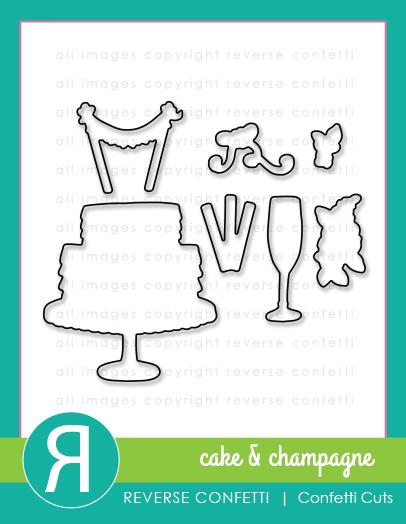 Reverse Confetti - Cake & Champagne Confetti Cuts