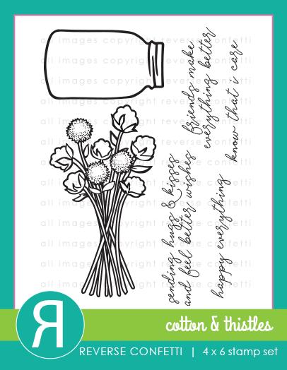 Reverse Confetti - Cotton & Thistles Stamp Set