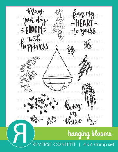Reverse Confetti - Hanging Blooms Stamp Set