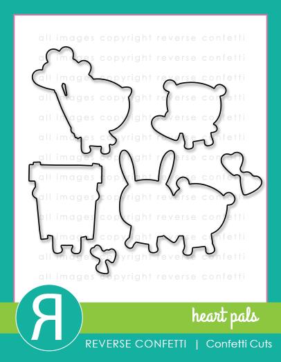 Reverse Confetti - Heart Pals Confetti Cuts