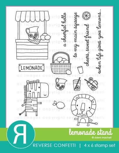 Reverse Confetti - Lemonade Stand Stamp/Die Set