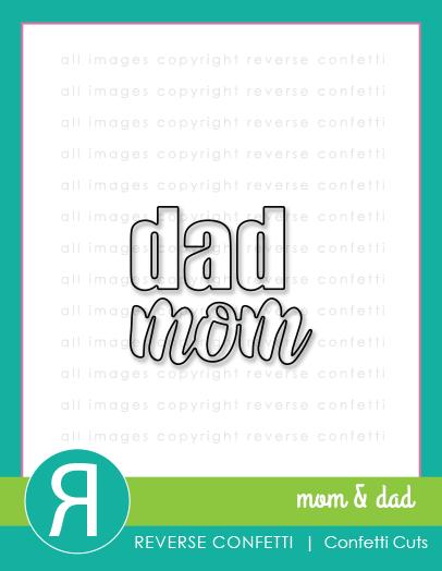 Reverse Confetti - Mom & Dad Word Duos Confetti Cuts