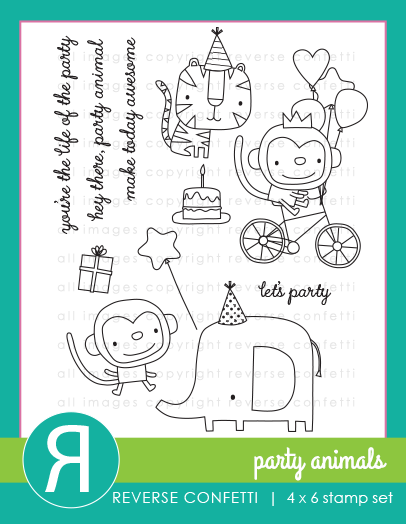 Reverse Confetti - Party Animals Stamp Set