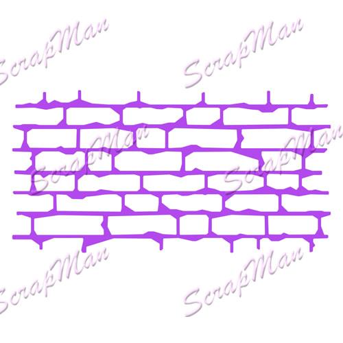 Scrap Man - Collage Brick Wall Die