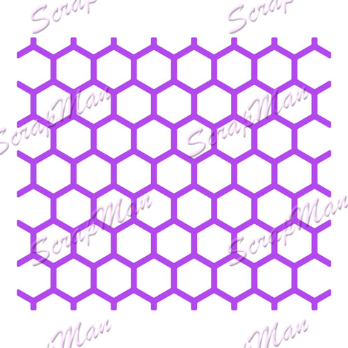 Scrap Man - Collage Honeycomb Die