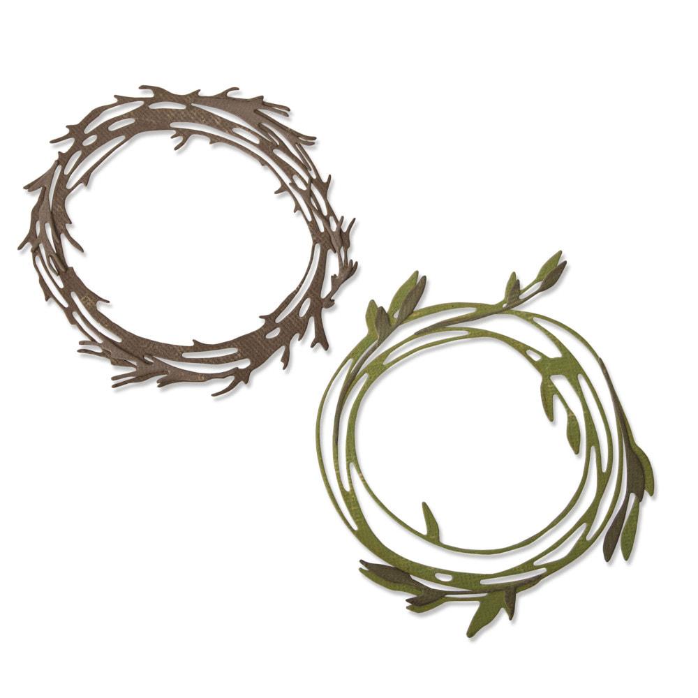 Sizzix - Thinlits - Funky Wreath