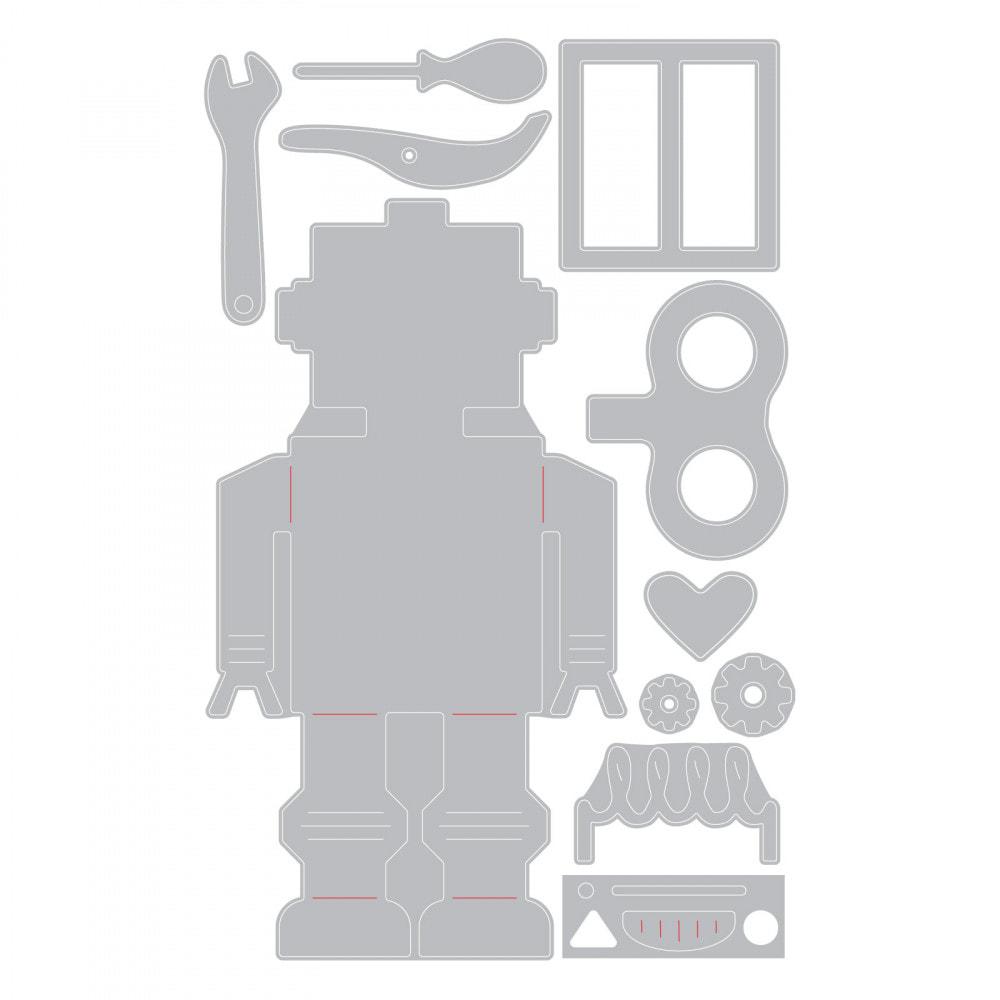 Sizzix - 50s Robot Thinlits Die Set