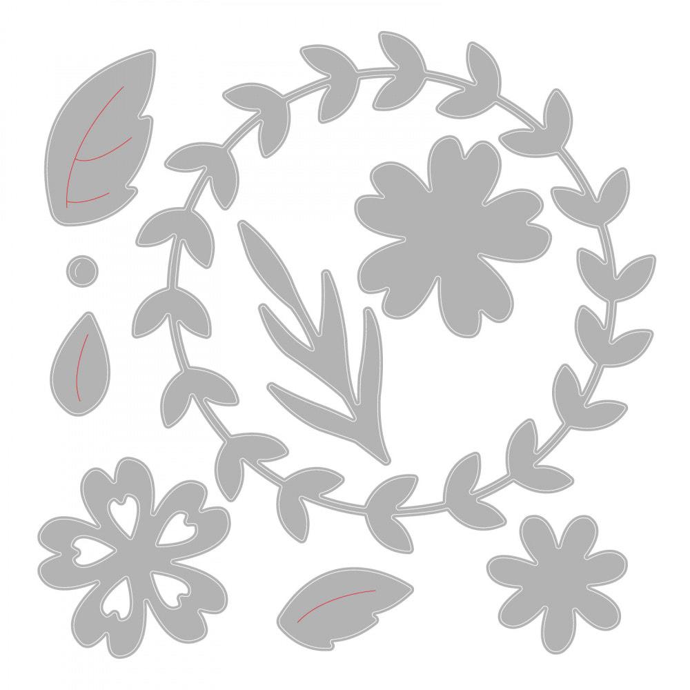 Sizzix - Floral Wreath Thinlits Die