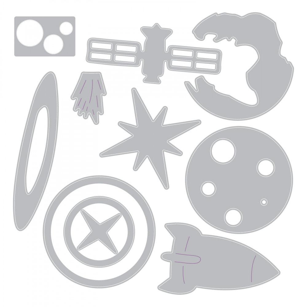 Sizzix Thinlits - Space Die Set
