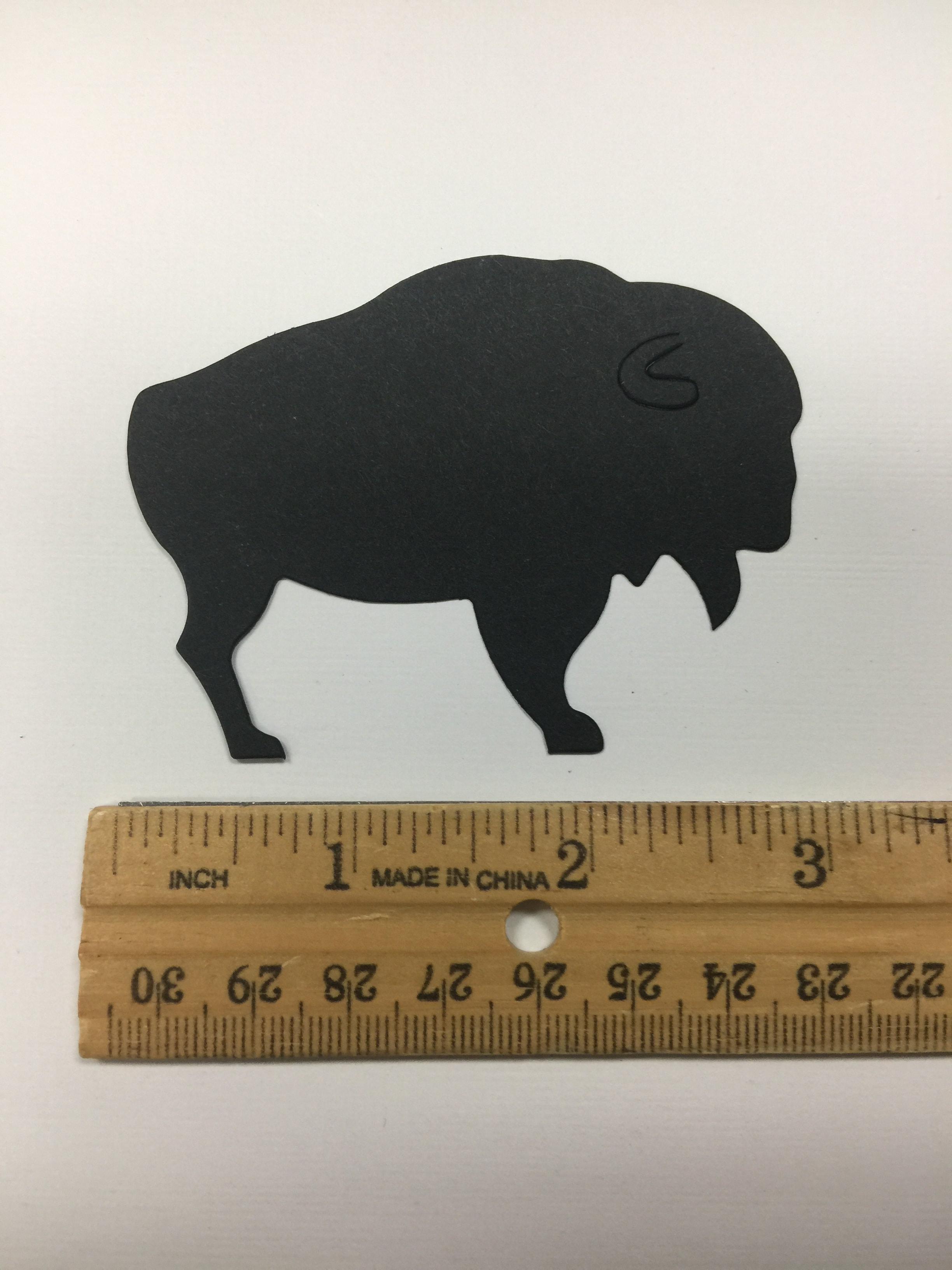 Small Pre-cut Buffalo Die Cuts (10/pack)