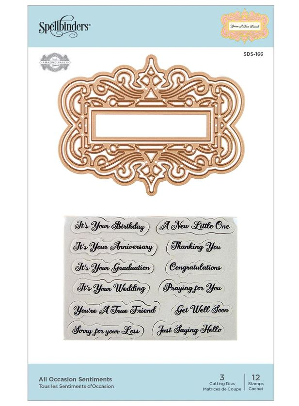 Spellbinders - All Occasions Sentiments Etched Dies