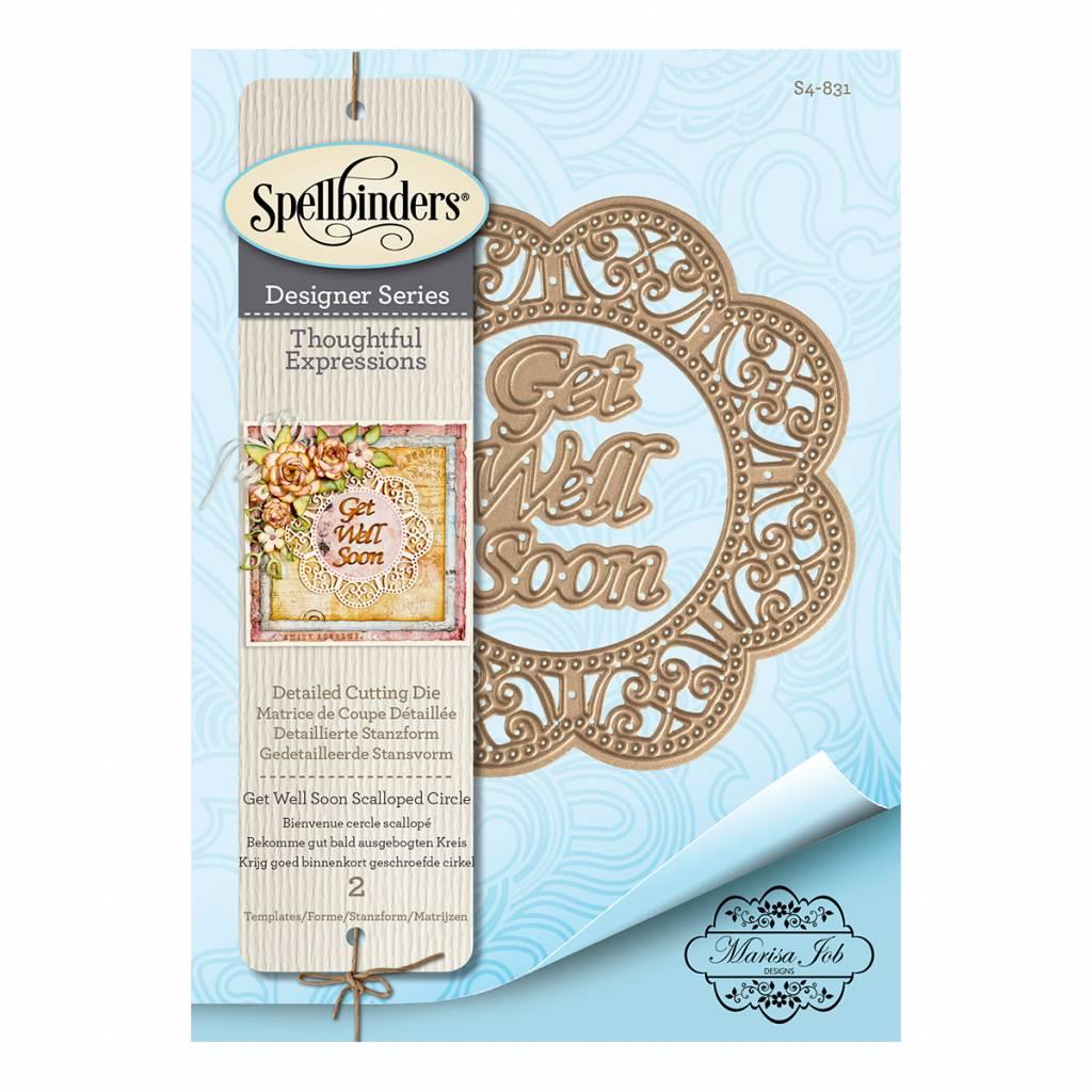 Spellbinders - Get Well Soon Scalloped Circle Die