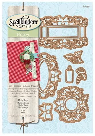 Spellbinders - Holly Tags Die