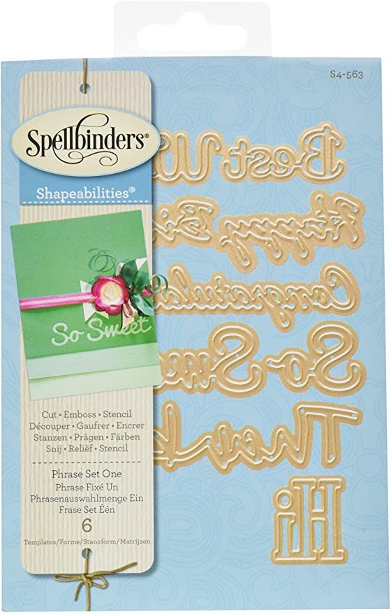 Spellbinders - Phrase Set 1 Dies