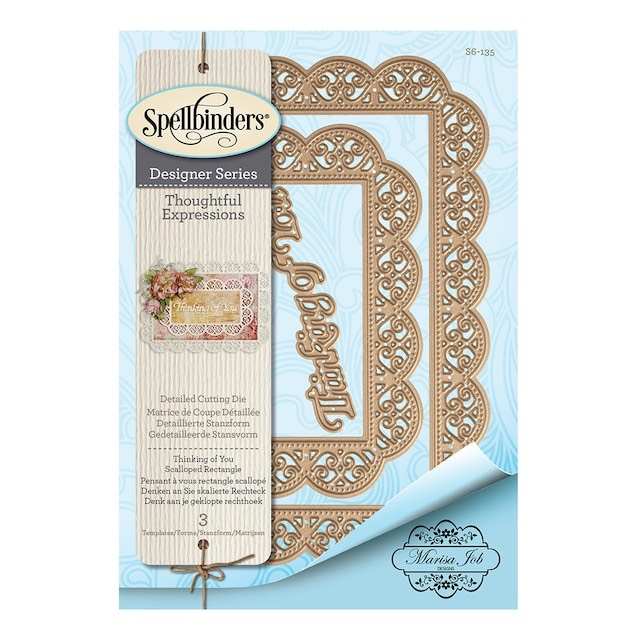 Spellbinders - Shapeabilities Thinking of You Scalloped Rectangle Dies