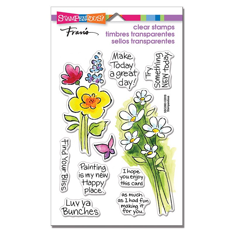 Stampendous - Bunch of Blossoms Stamp Set