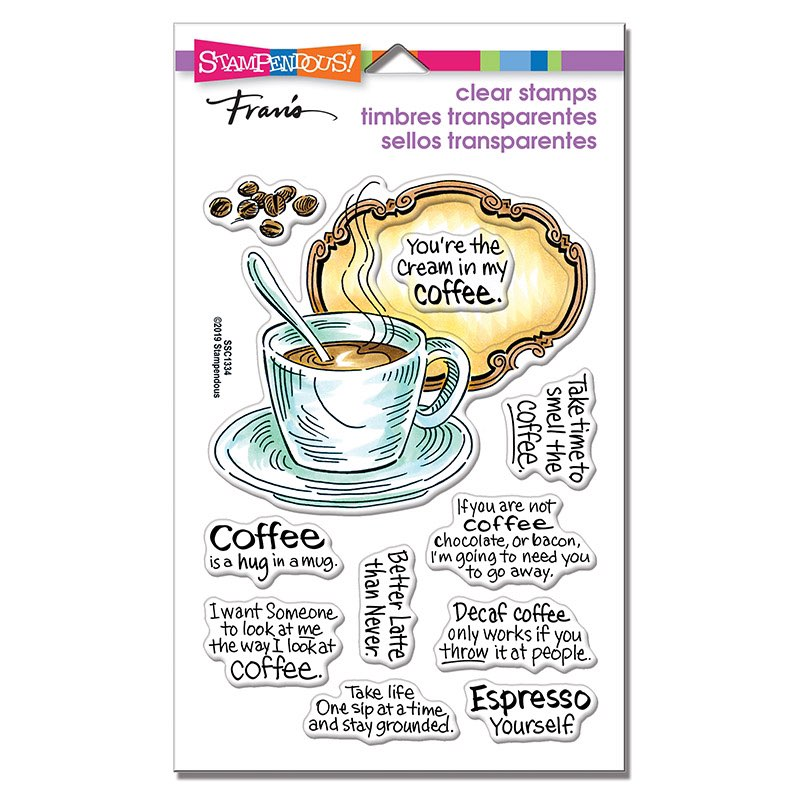 Stampendous - Coffee Frame Perfectly Clear Stamps Set