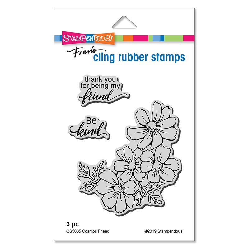 Stampendous - Cosmos Friend Cling Stamp Set