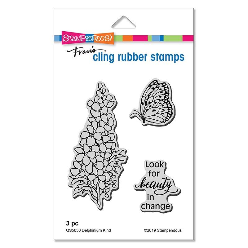 Stampendous - Delphinium Kind Cling Stamp Set