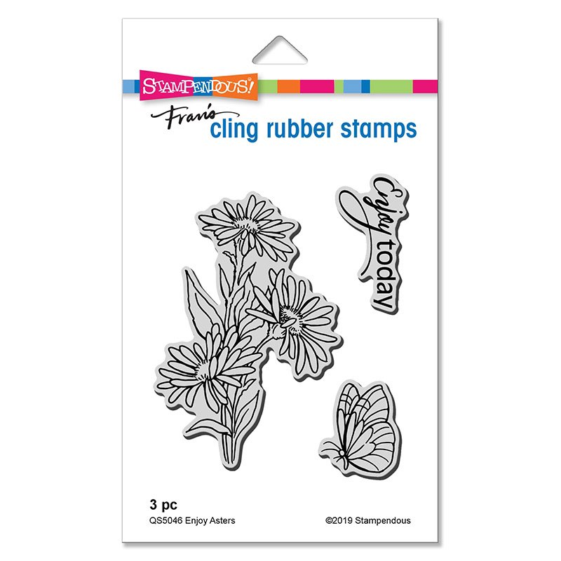 Stampendous - Enjoy Asters Cling Stamp Set