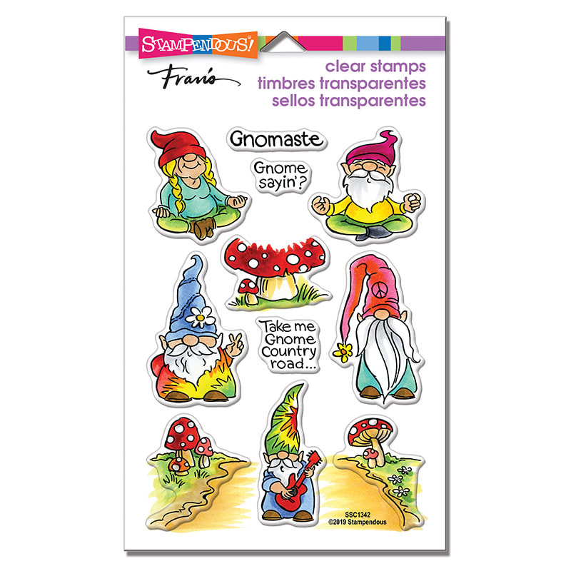 Stampendous - Gnomaste Perfectly Clear Stamp Set
