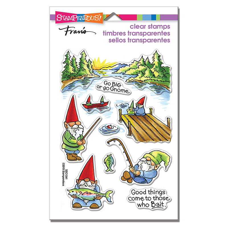 Stampendous - Gnome Fishing Perfectly Clear Stamp Set