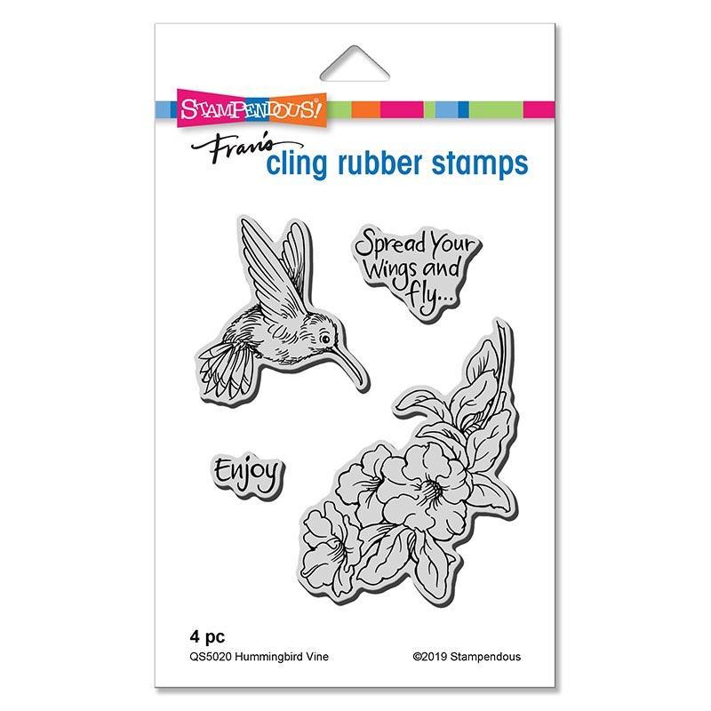 Stampendous - Hummingbird Vine Cling Stamps Set