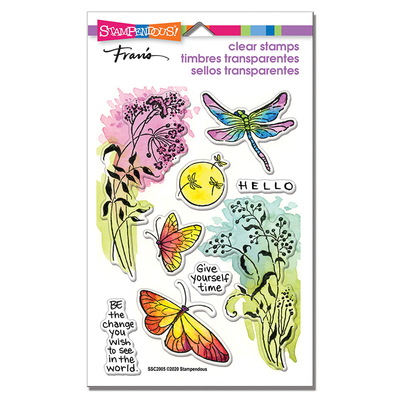 Stampendous - Moonlit Wings Stamp Set