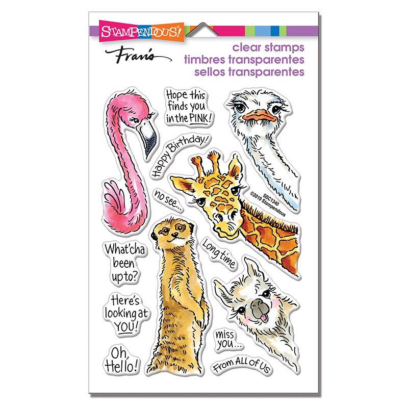 Stampendous - Peeking Pals Perfectly Clear Stamp Set