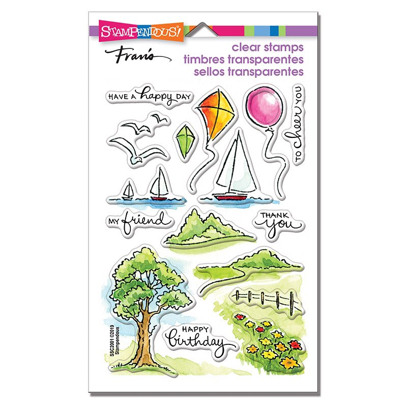 Stampendous - Scenic Sampler Perfectly Clear Stamps Set