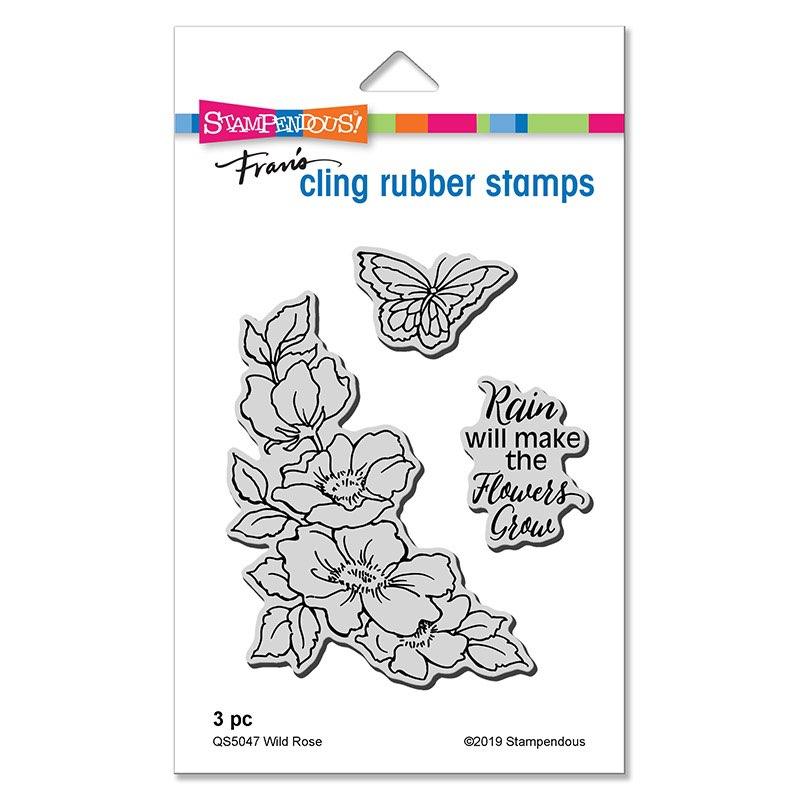 Stampendous - Wild Rose Cling Set
