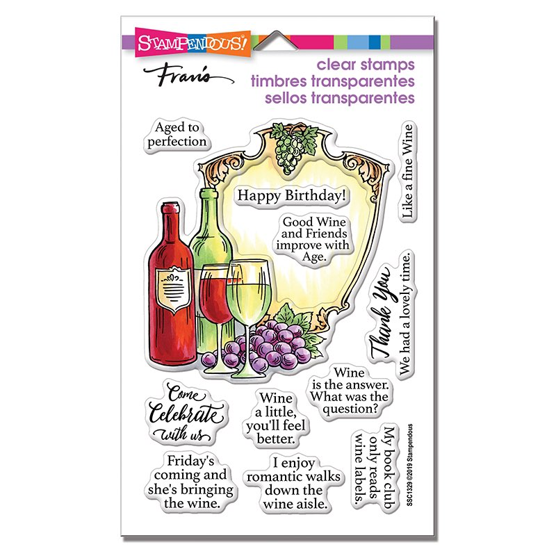Stampendous - Wine Frame Perfectly Clear Stamps Set