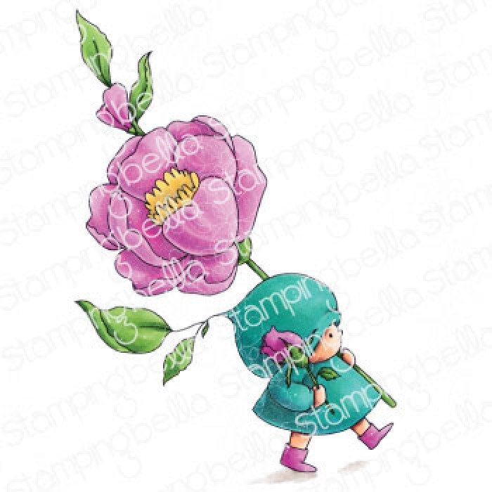 Stamping Bella - Bundle Girl with a Rose Stamp