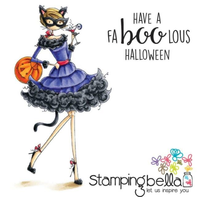 Stamping Bella - Kitty Loves Halloween Stamp
