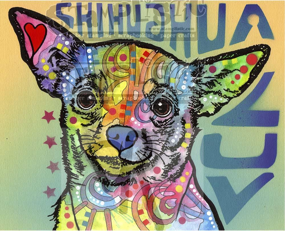 Stamplistic - Chichuahua Luv Rubber Stamp