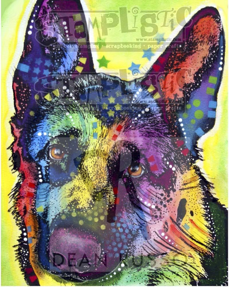 Stamplistic - German Shepherd Rubber Stamp